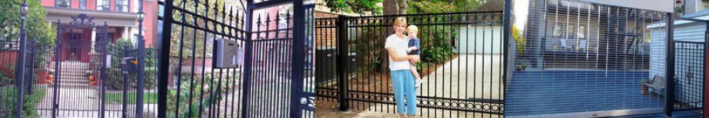 Custom Pedestrian Gates, Pedestrian Gate with Intercom System, Driveway Gate & Rolling Grille & Ped Gate